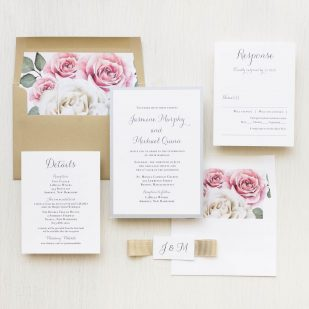 Casual Calligraphy Wedding Invitations