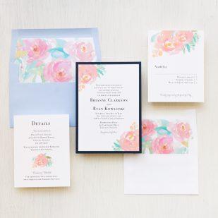 Watercolor Pastel #2 Wedding Invitations