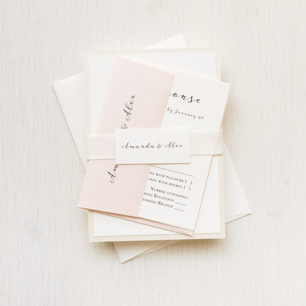 Simple Blush Wedding Invitations