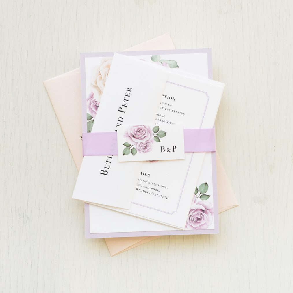 Lavender Blush Wedding Invitations