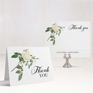 Ivory & White Thank You Cards