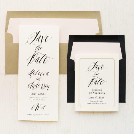 Elegant Calligraphy Save the Dates