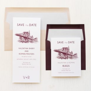 New York City Chic Save the Dates