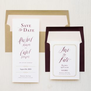 Blush & Burgundy Save the Dates
