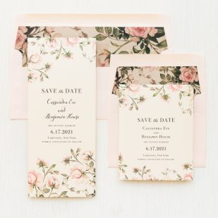 Garden Roses #2 Floral Save the Dates