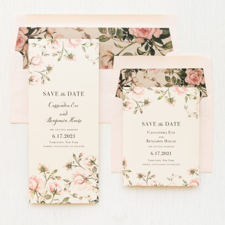 Blush Rose Save the Dates