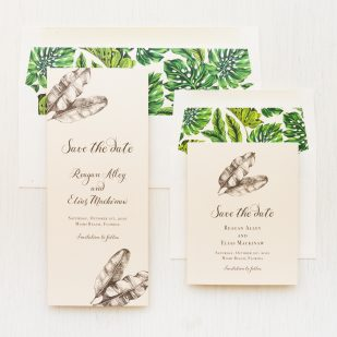 Elegant Tropical Save the Dates