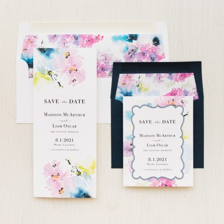 Lavender Watercolor Save the Dates