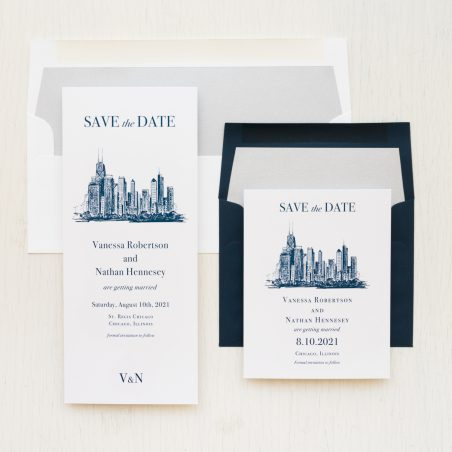 Chicago Skyline Save the Dates