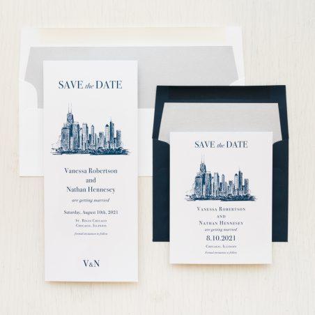 Chicago Skyline Save the Dates