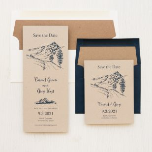 Rustic Mountain Save the Dates