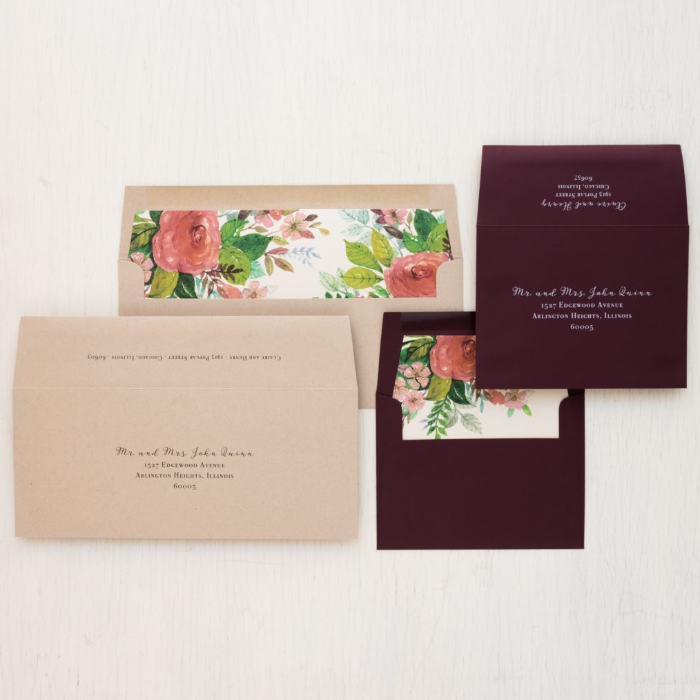 Dusty Rose Save the Dates