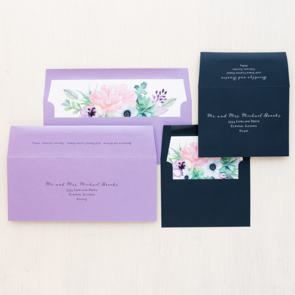 Lilac Succulent Save the Dates
