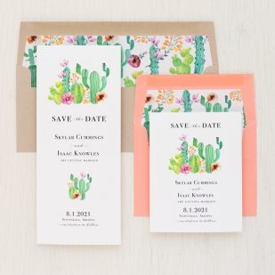 Cactus Love Save the Dates