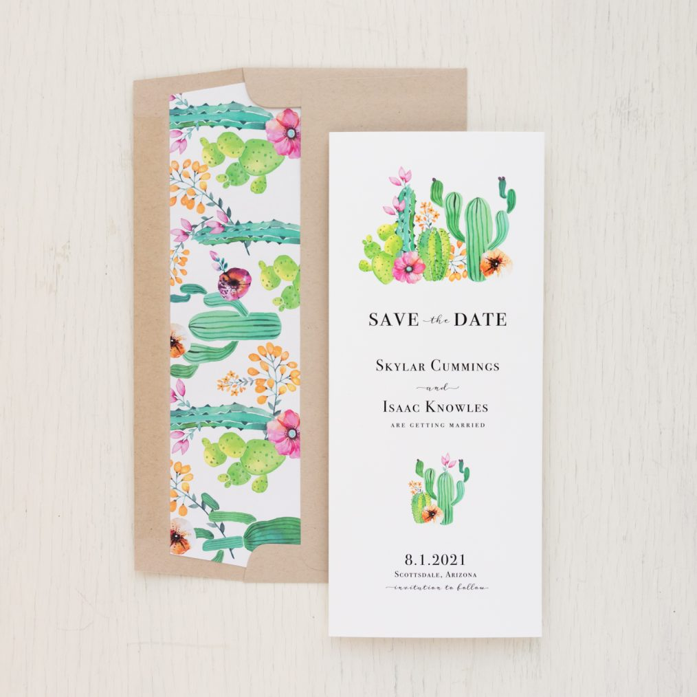 Colorful Cactus Save the Dates