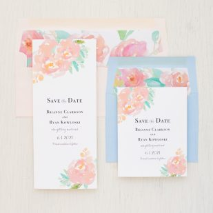 Watercolor Pastel Save the Dates