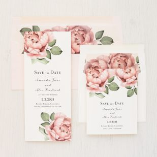Blush Script Save the Dates