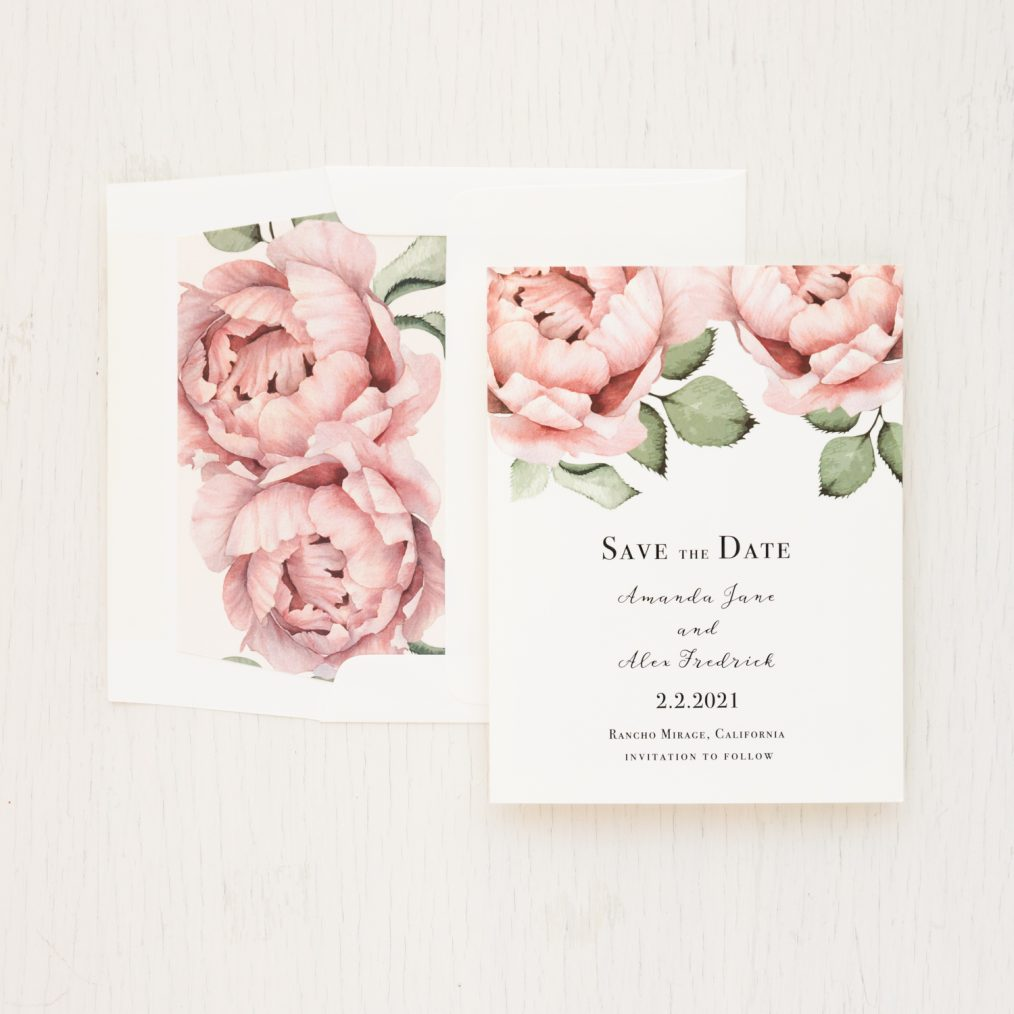 Simple Blush Save the Dates