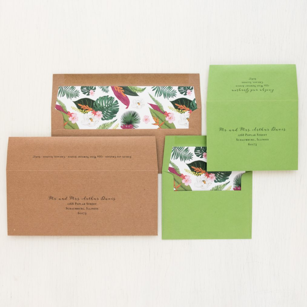 Palm Leaf Save the Dates