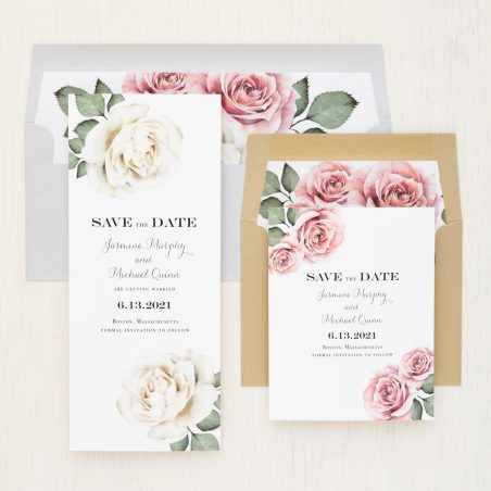 Simple Mauve Save the Dates