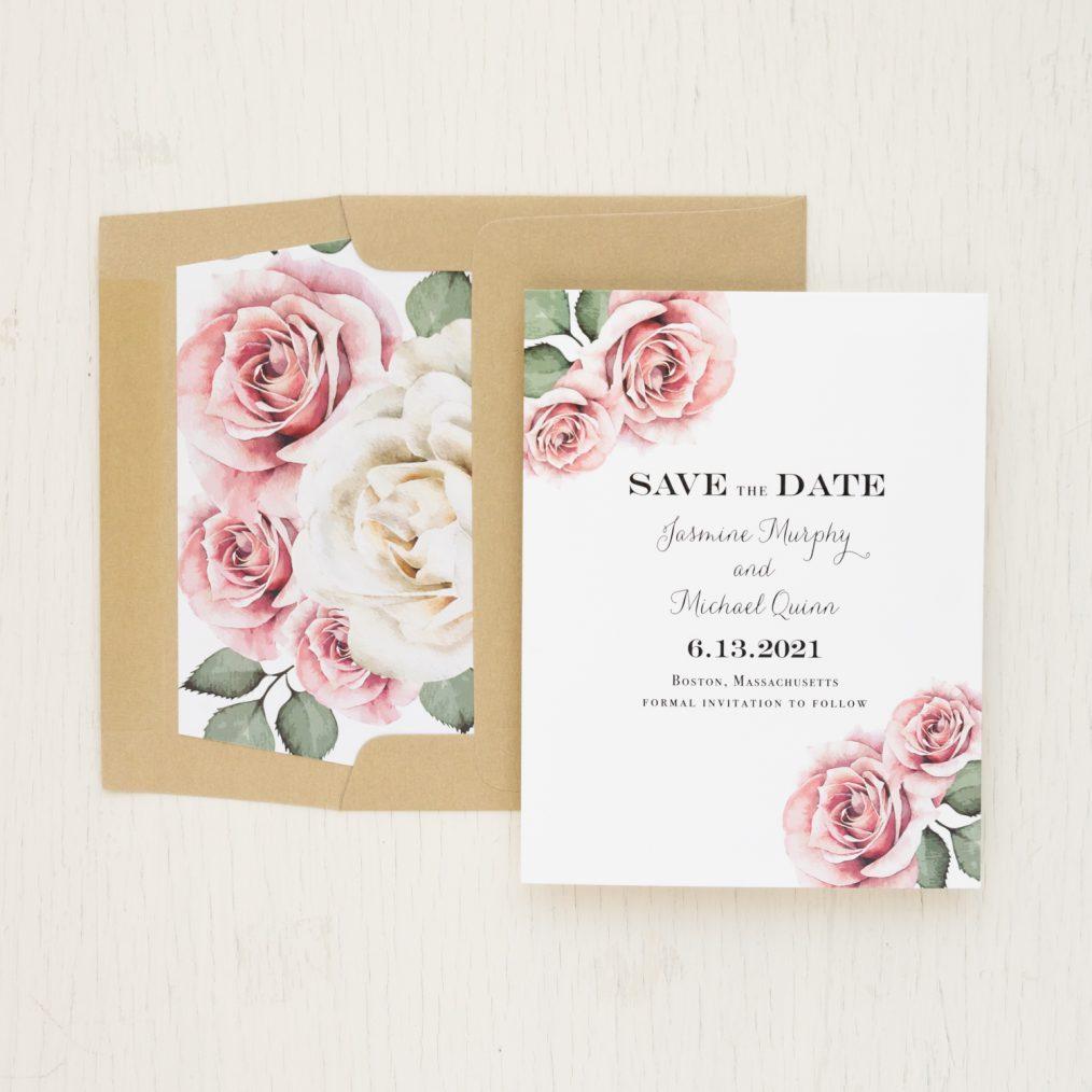 Simple Mauve Save the Dates