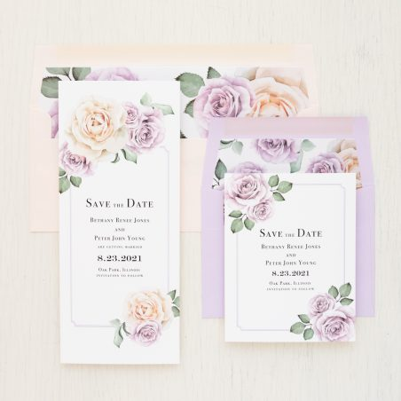 Lavender & Blush Save the Dates