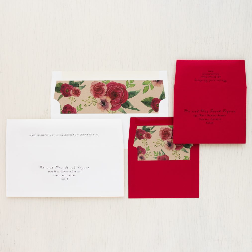 Red Rose Save the Dates