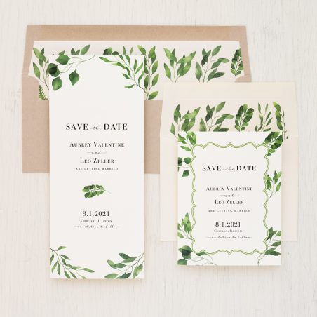 Eucalyptus Green Save the Dates