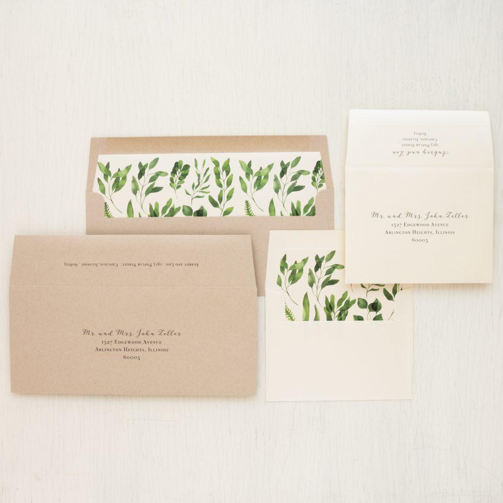 Eucalyptus Green Save the Dates