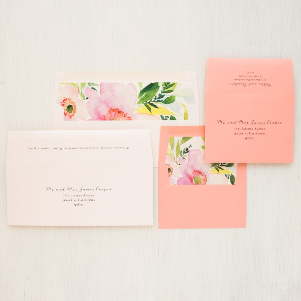 Blush & Coral Save the Dates