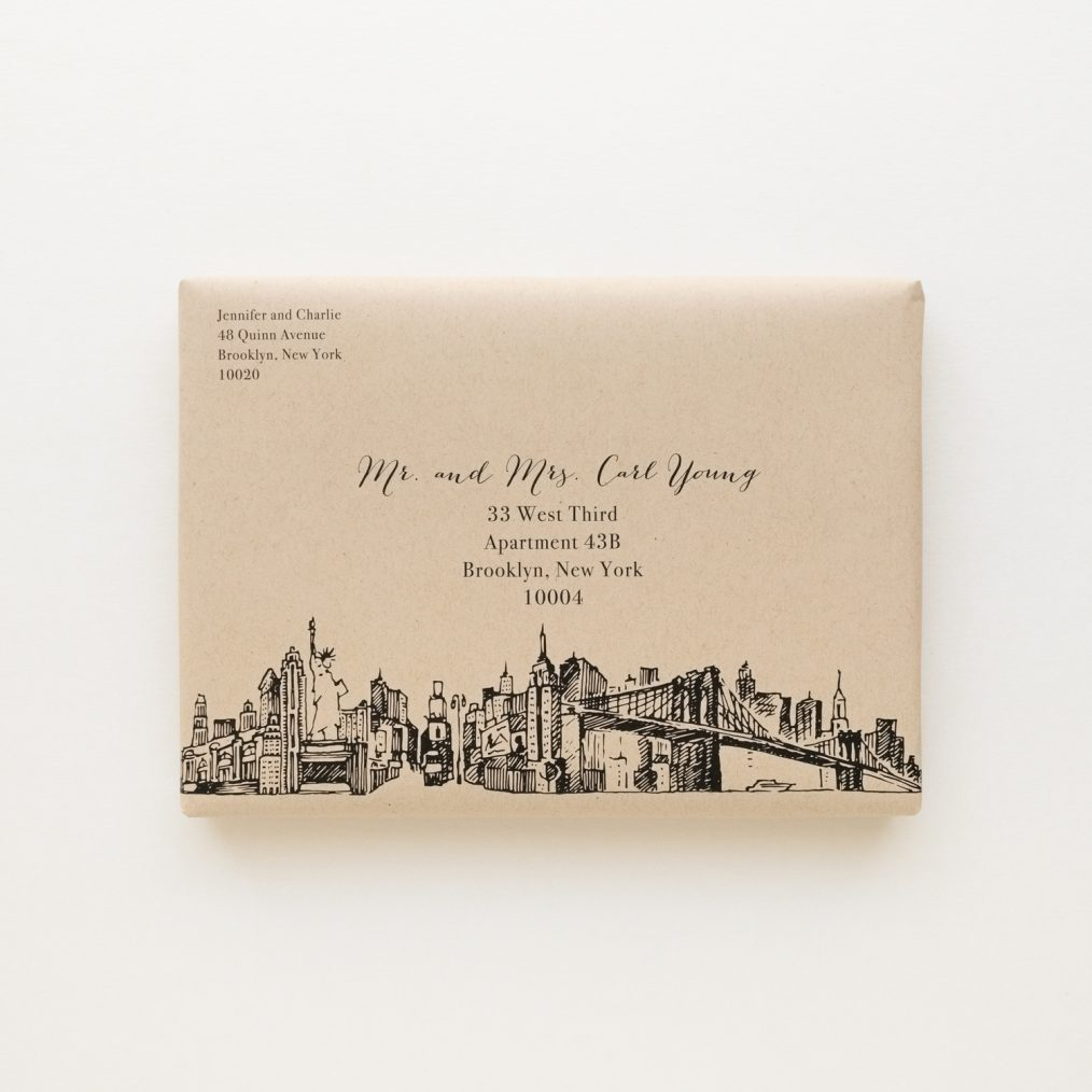 Modern Skyline Boxed Wedding Invitations