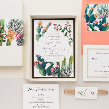 Colorful Desert Love Boxed Wedding Invitations