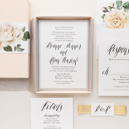 Simple & Modern Calligraphy Wedding Invitations