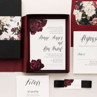 Modern Boho Boxed Wedding Invitations