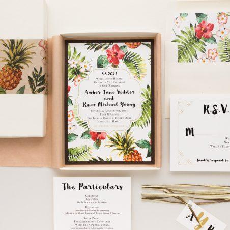 Tropical Pineapple Paradise Wedding Invitations