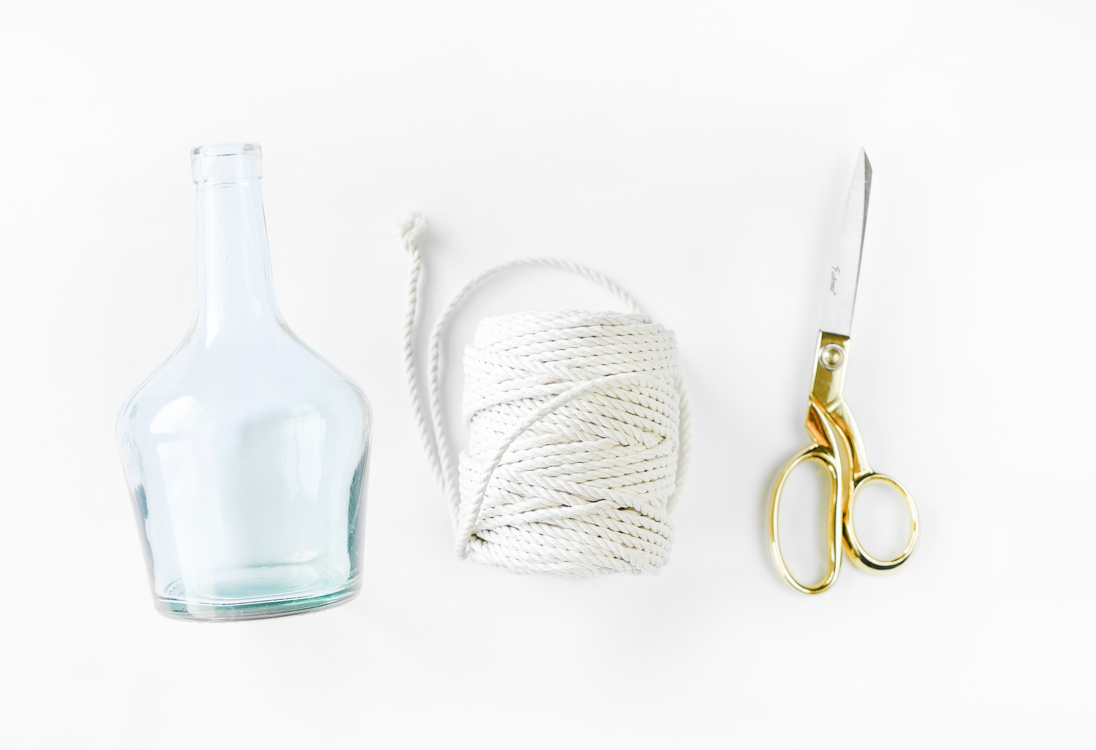 DIY Sailor's Rope Vases