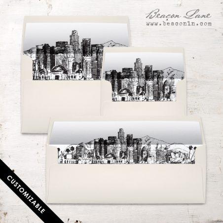 Los Angeles Envelope Liner | Beacon Lane Wedding Invitations
