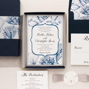 Beach Blues Boxed Wedding Invitations