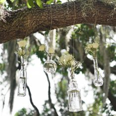 DIY Hanging Flower Vases