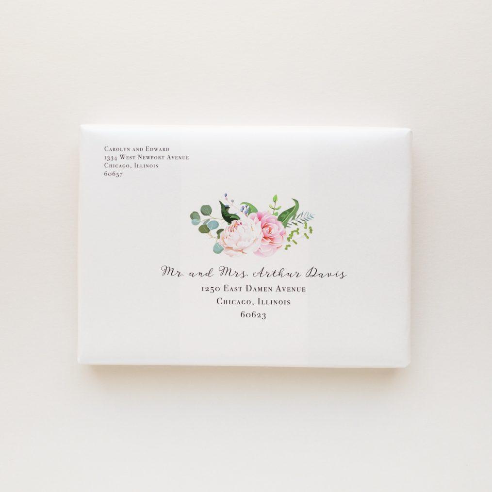Unique Navy & Blue Floral Boxed Wedding Invitations