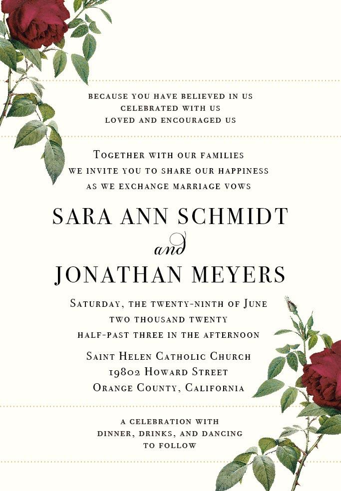 Wedding Invitation Wording Examples To Make Your Own Beacon Lane