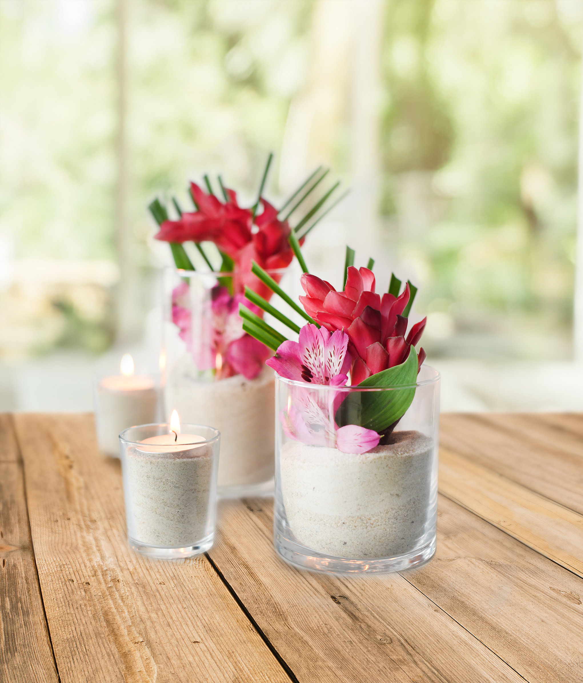 Diy Tropical Flower Centerpieces Beacon Lane