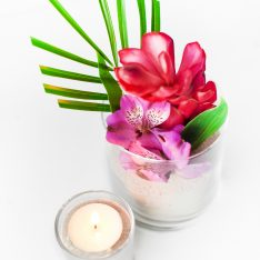 DIY Tropical Flower Centerpieces