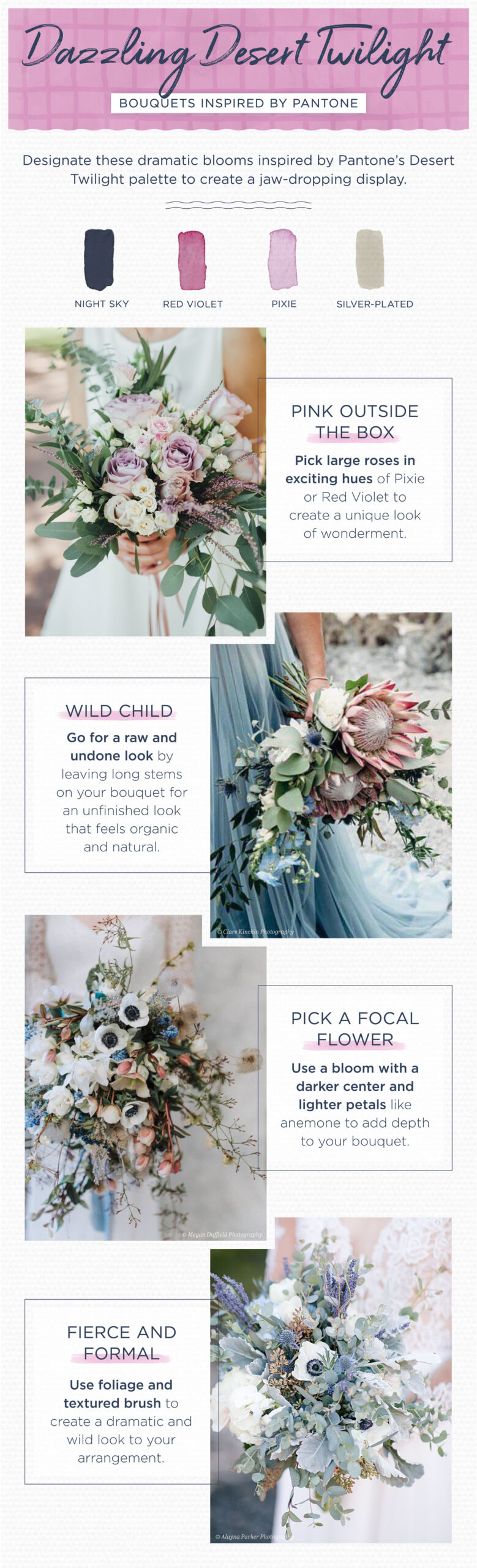 Pantone Wedding Color Palettes
