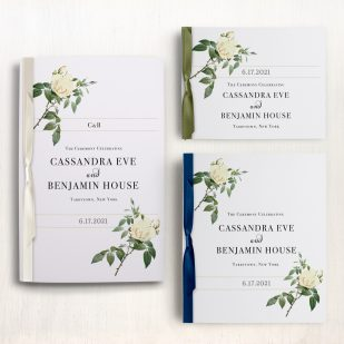 Ivory & White Ceremony Booklet
