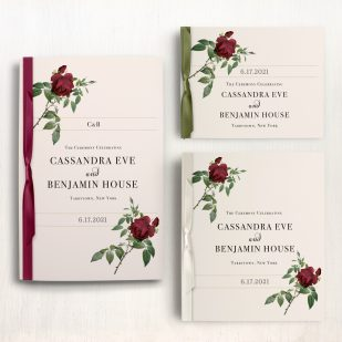 Ivory & Burgundy Ceremony Booklet