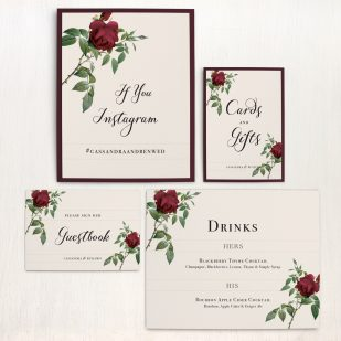 Ivory & Burgundy Custom Signs