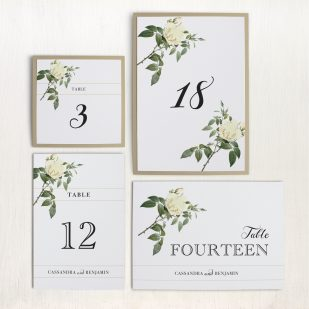 Ivory & White Flat Table Numbers