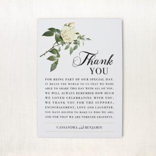 Ivory & White Reception Thank Yous