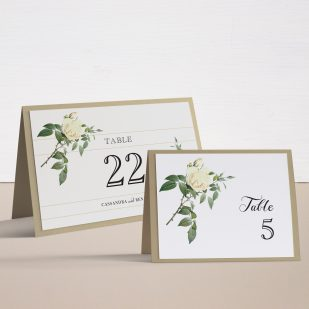 Ivory & White Tented Table Numbers